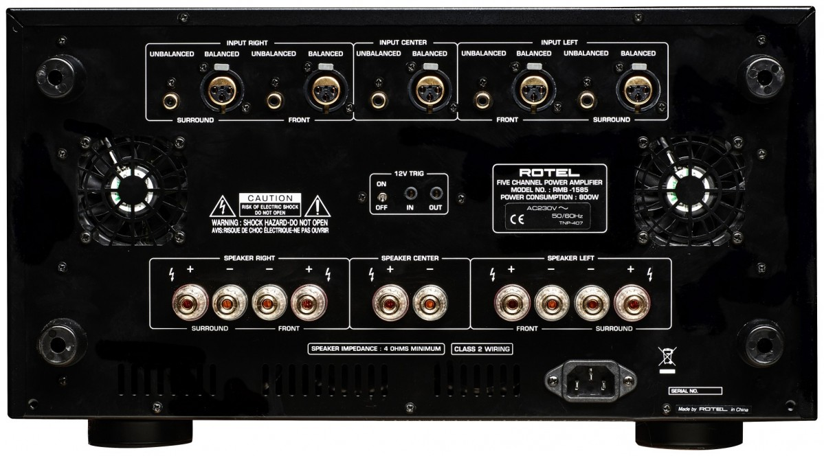 Audio Solutions Rotel Rmb 1585 Multi Channel Power Amplifier Class 2 Wiring