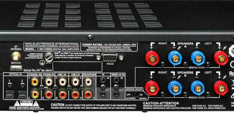 Bose Sound System >> Audio Solutions NAD C368 Stereo Integrated Amplifier